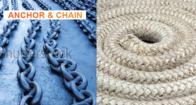 Anchor, Chain and Ropes